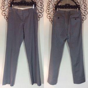 Theory grey pinstripe professional slacks pants